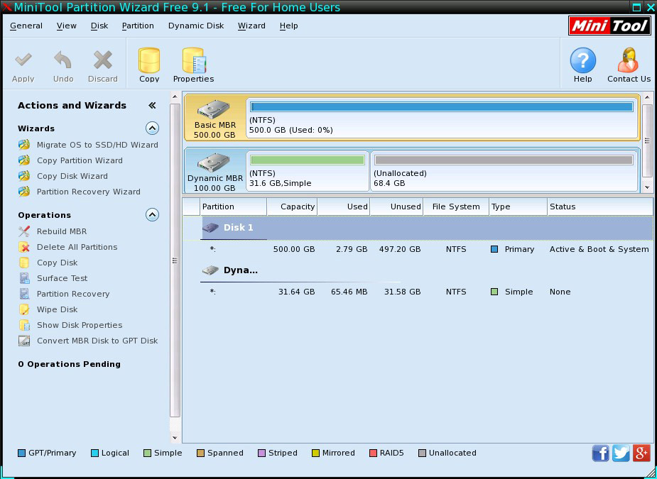 Download Free MiniTool Partition Wizard 9.1