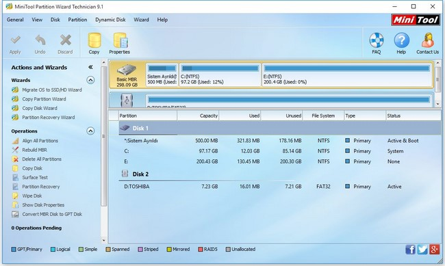 MiniTool Partition Wizard 9.1 Latest Version Free Edition