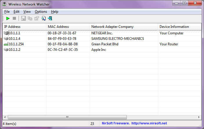 Download Free Wireless Network Watcher