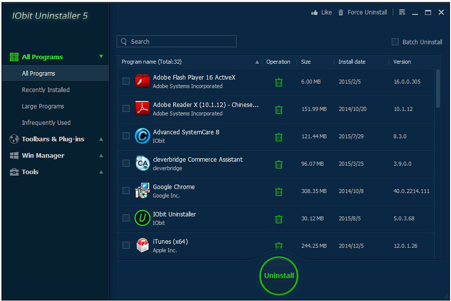 iobit uninstaller free download for windows 7