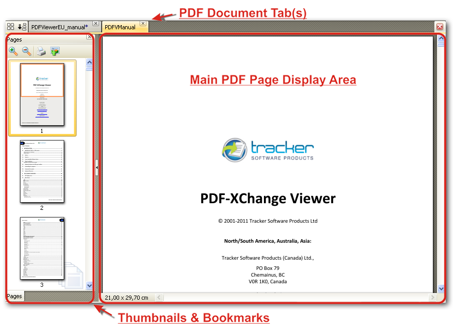 tracker pdf xchange viewer