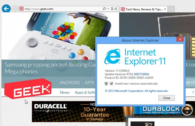 Internet Explorer 11 Download Free