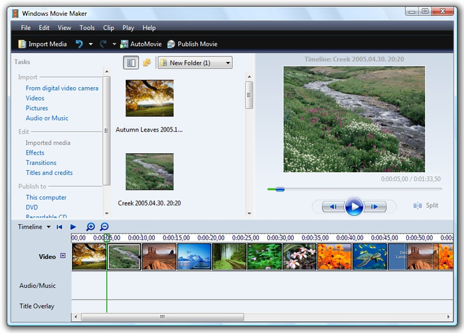 Windows Vista Movie Maker Free