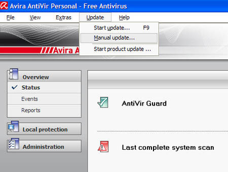 Avira Antivir Virus Definition File Update for PC