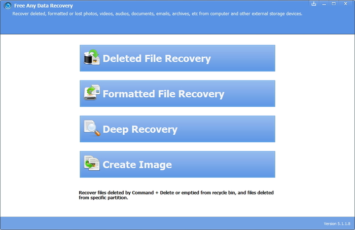 Free Any Data Recovery for windows