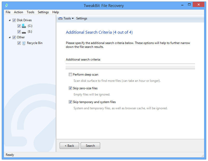 TweakBit File Recovery Free Download for pc