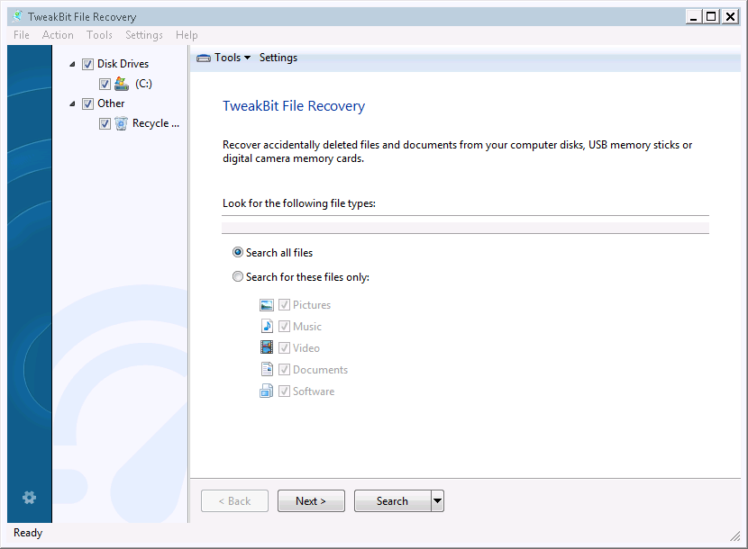 TweakBit File Recovery Free Download for windows