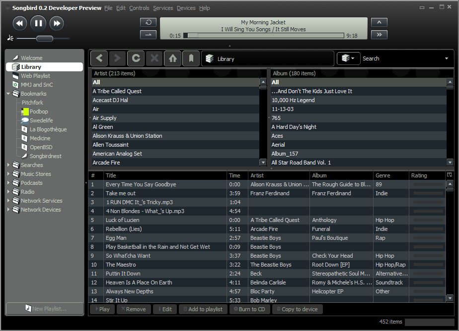 Songbird 2.2.0 Free Download for pc