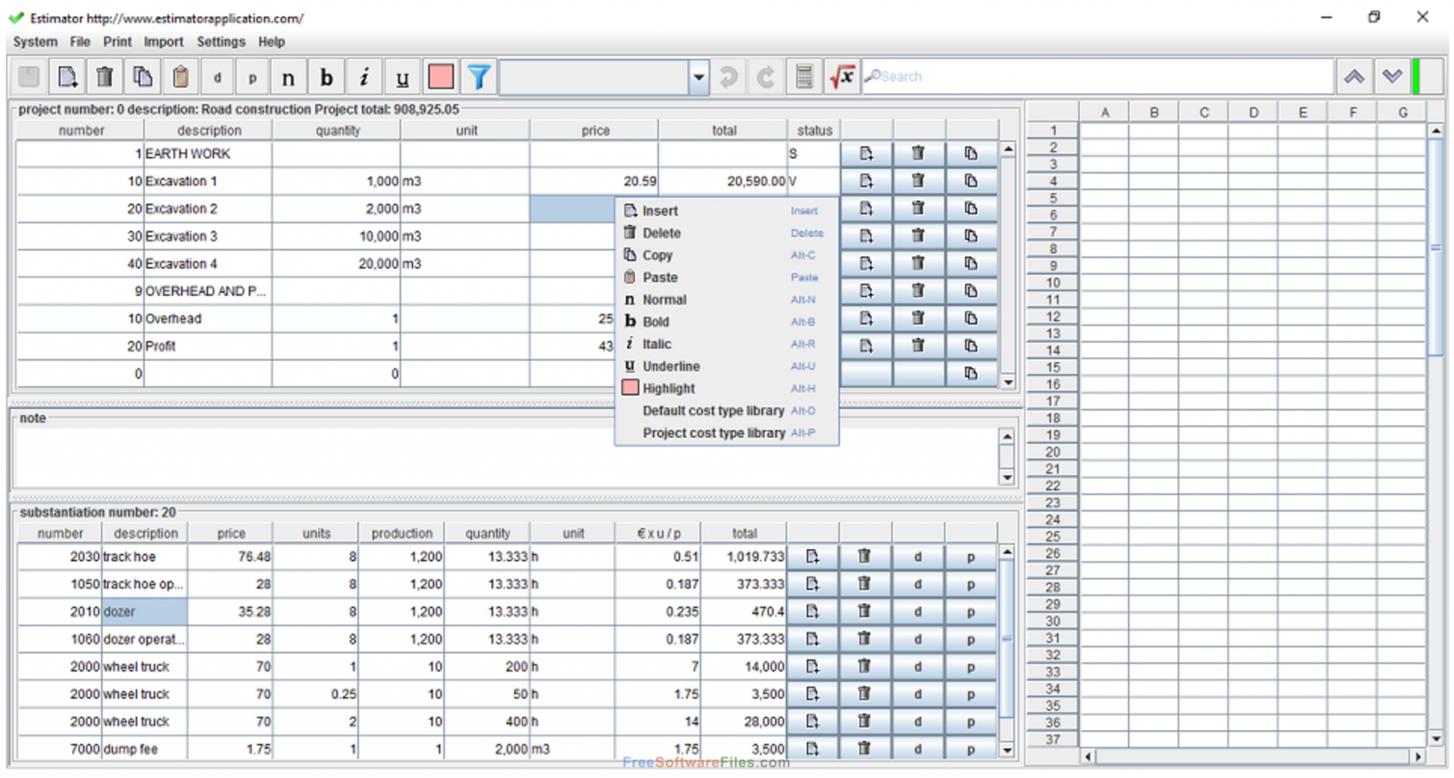 Construction Cost Estimator Driverlayer Search Engine