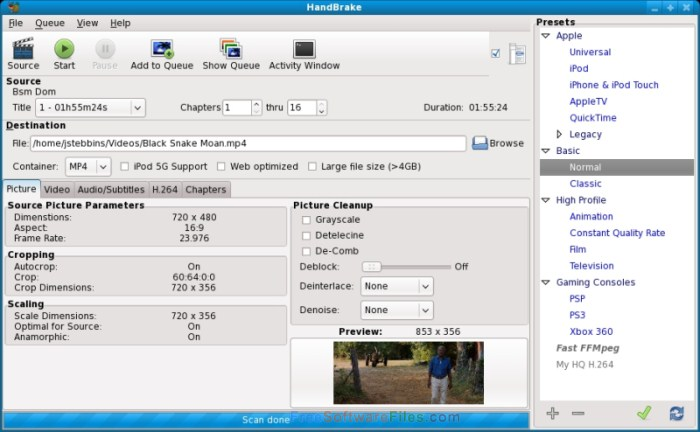 HandBrake Video Converter latest version v1.0.3