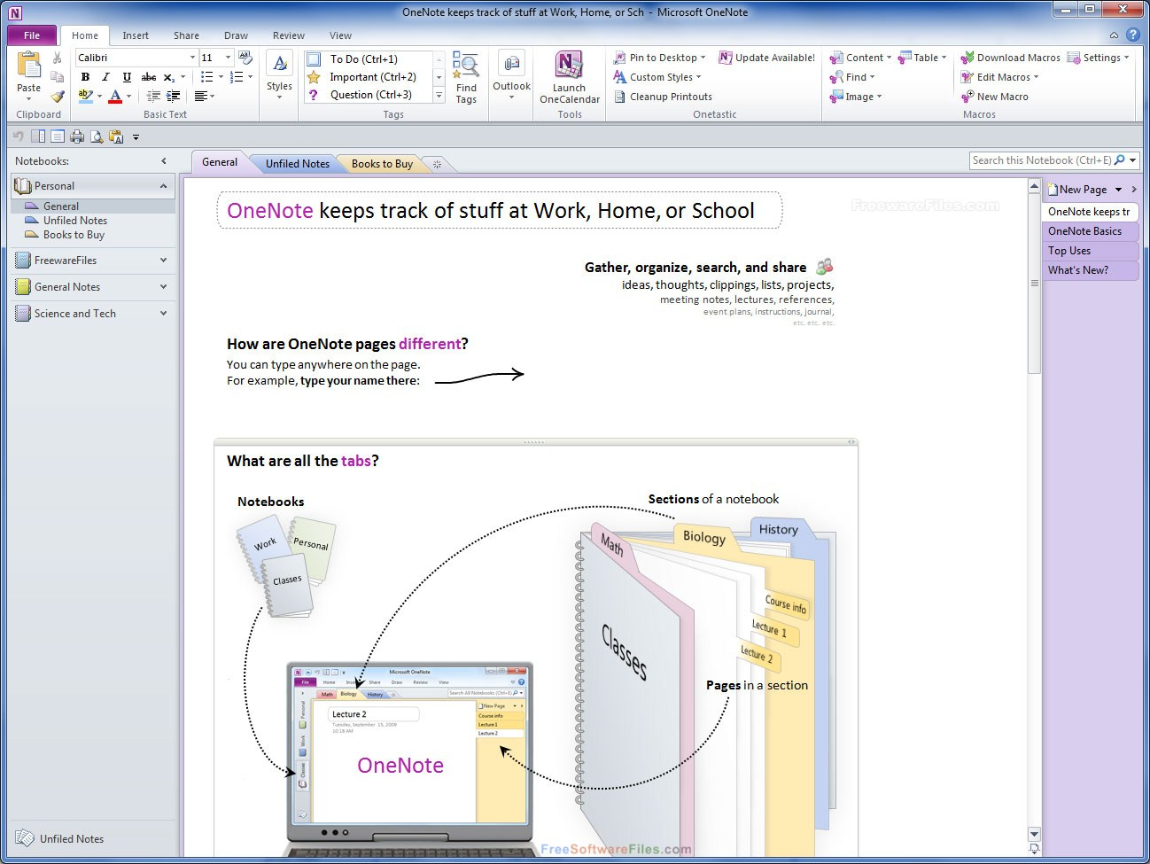 Microsoft OneNote 2016 Free Download latest version v16