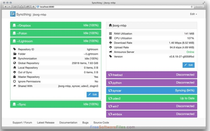 Syncthing 64-bit Free Download latest version