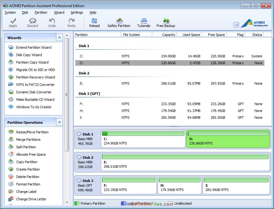 AOMEI Partition Assistant Standard 6.5 Free Download offline installer