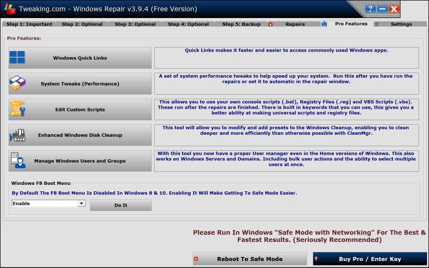 download tweaking com windows repair free system desktop tools