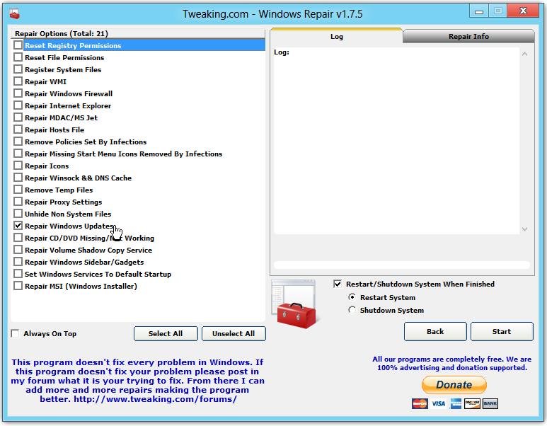 windows 7 repair tool free download