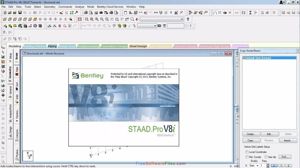 STAAD Pro V8i Offline Installer Download