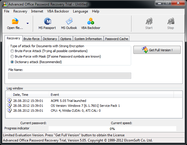 Advanced Office Password Recovery Portable free download full version