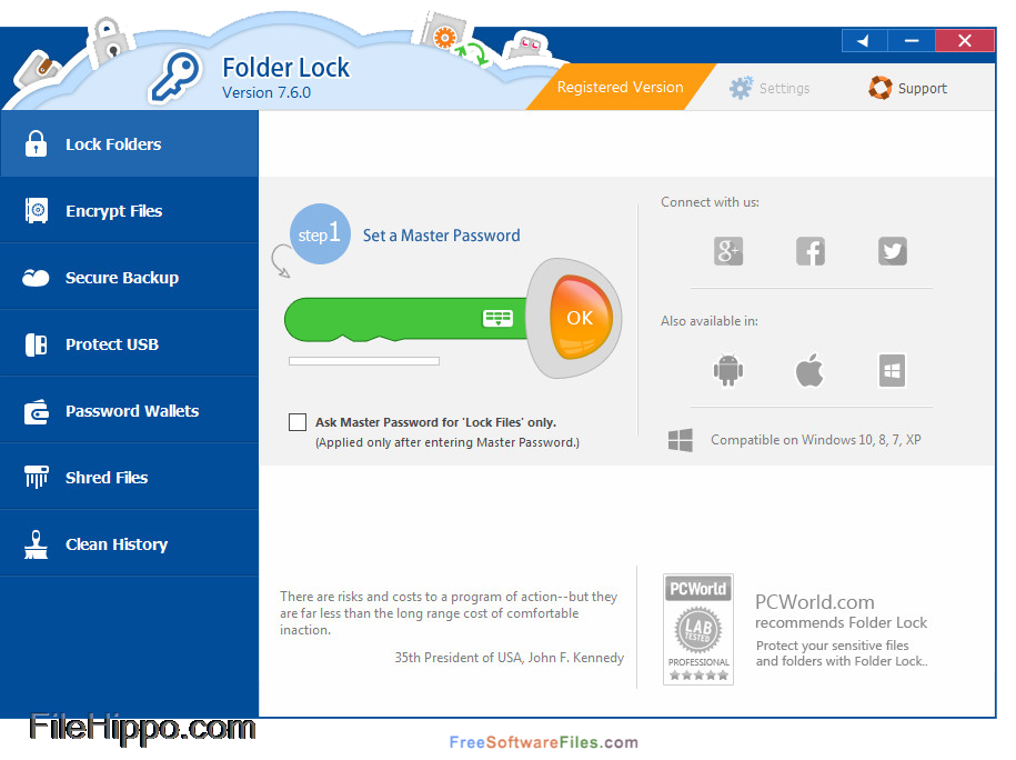 folder lock for windows 7
