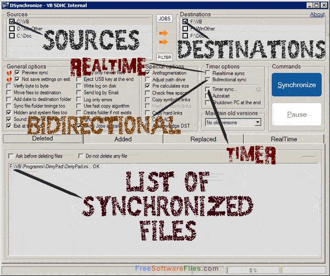 DSynchronize 2.36.30 real time sync