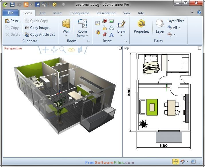 pCon.planner 7.7 p1 room planner Free Download
