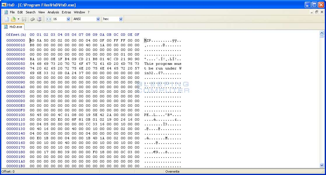 HxD Hex Editor Free Download Software