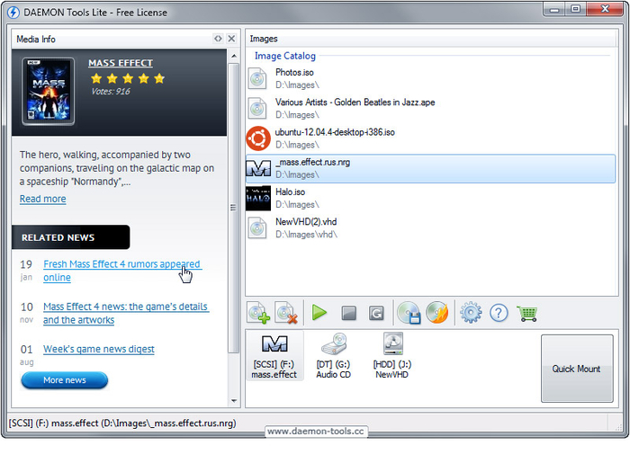 Daemon tools lite free download.