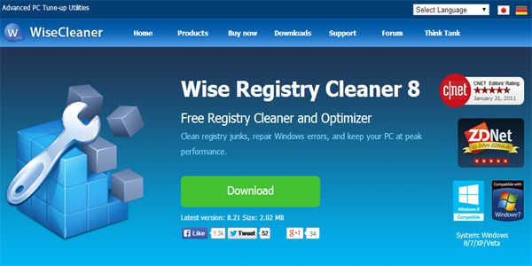 Wise Registry Cleaner Free