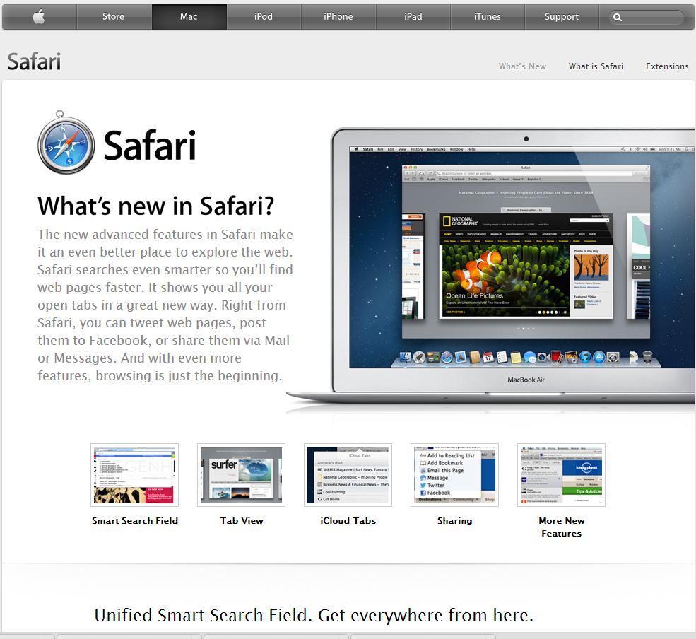 Apple Safari Best Features