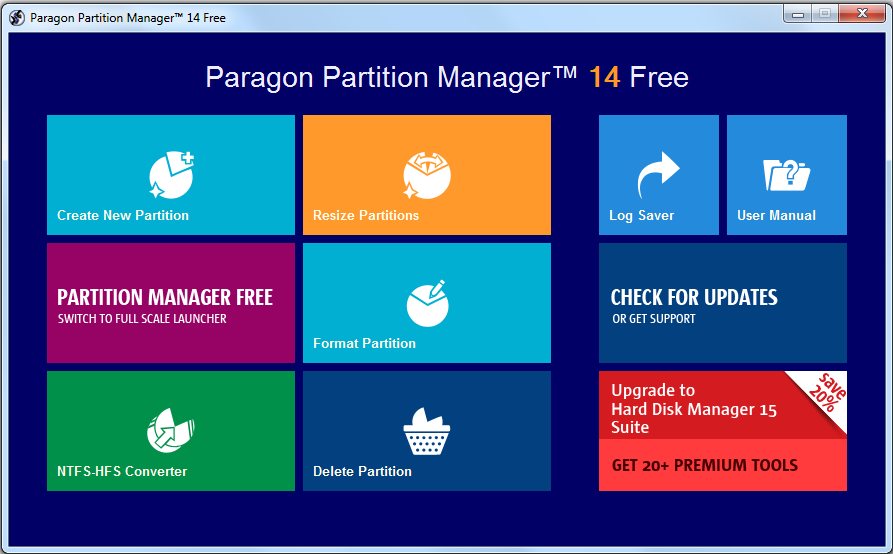 Free Paragon Partition Manager (64-bit)