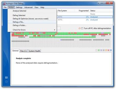 Free Auslogics Disk Defrag
