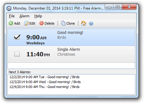 free alarm clock download for windows 7