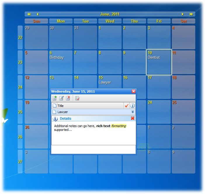 Interactive Calendar free download direct link