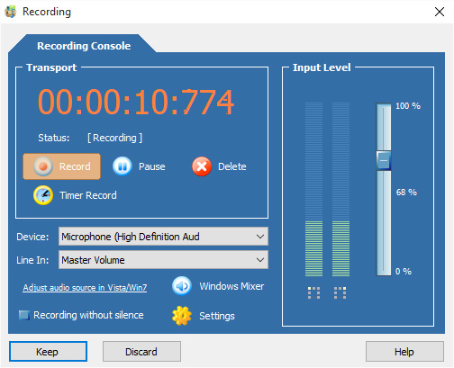 Sound Recorder free download for windows 10