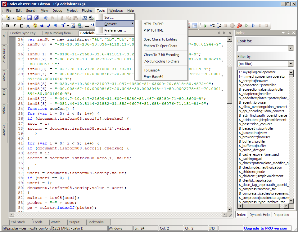 CodeLobster PHP Edition Free Download latest version