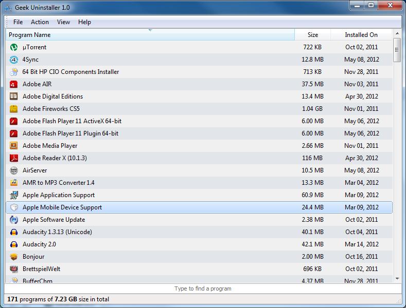 Geek Uninstaller Free Download for windows