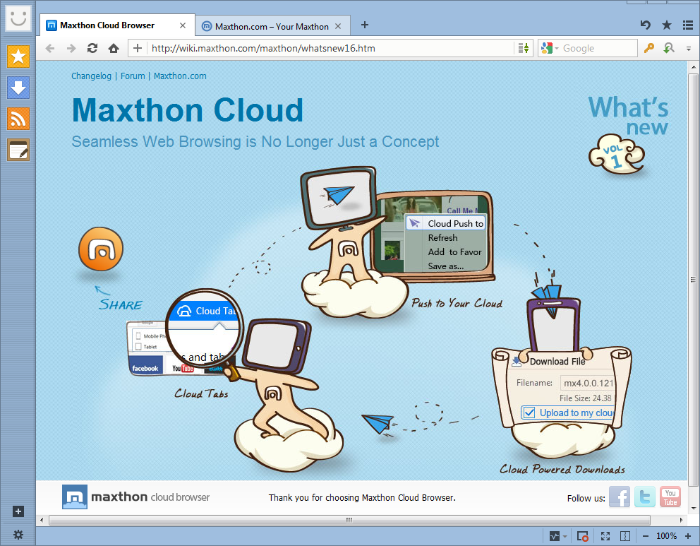 Maxthon Cloud Browser Free Download review