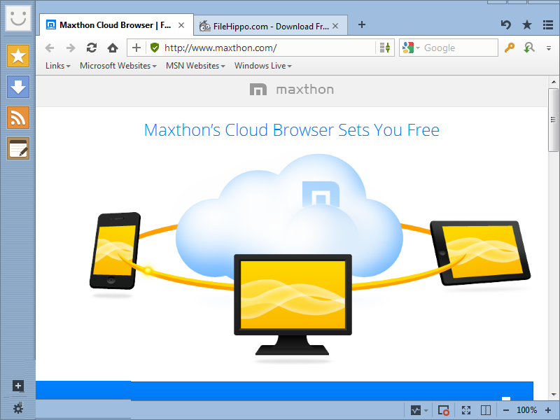 Maxthon Cloud Browser latest version
