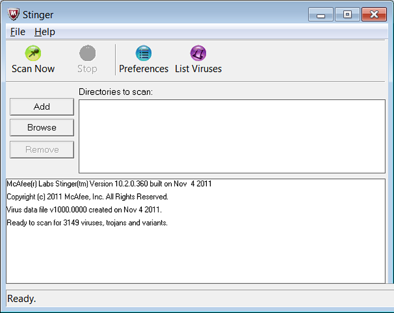 McAfee Stinger 12.1.0.2217 Free Download for Windows 10
