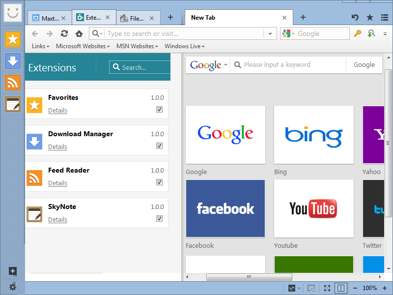 maxthon browser free download for windows 7