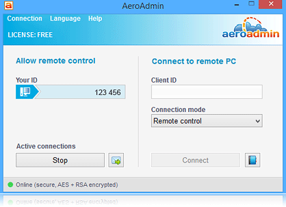 AeroAdmin 4.1.2767 Free download for windows 7