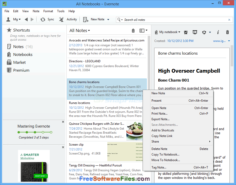 Free download Evernote for pc
