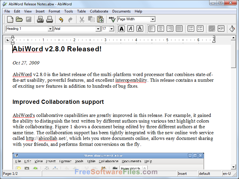 AbiWord 2.8.6 Free Download latest version