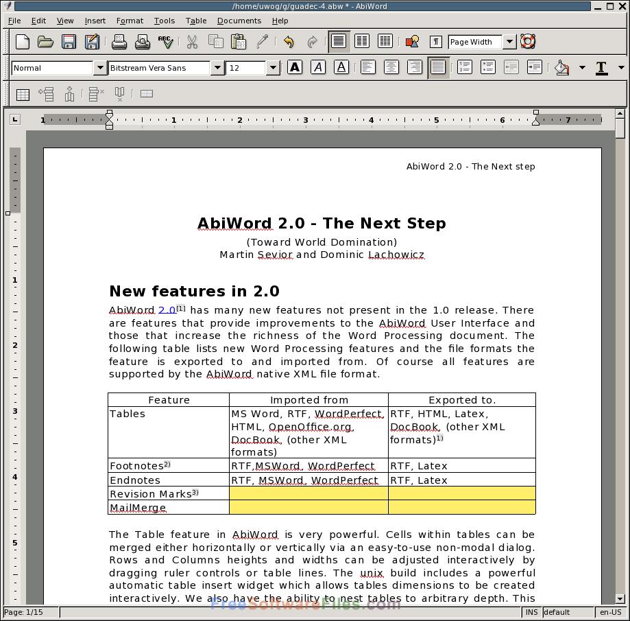 AbiWord 2.8.6 Free Download portable