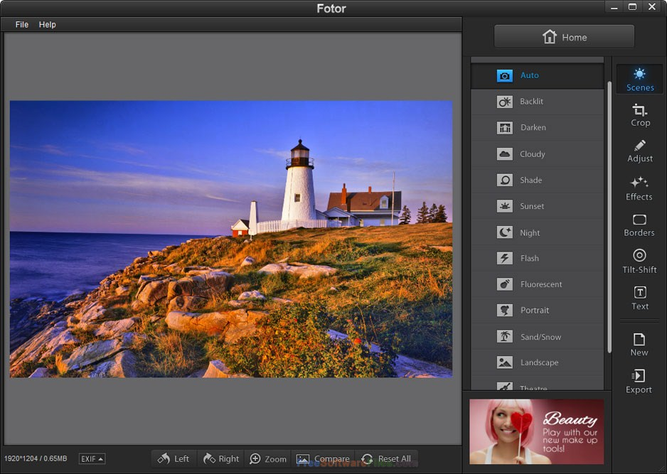Fotor 3.1.1 Free Download photo editor for pc