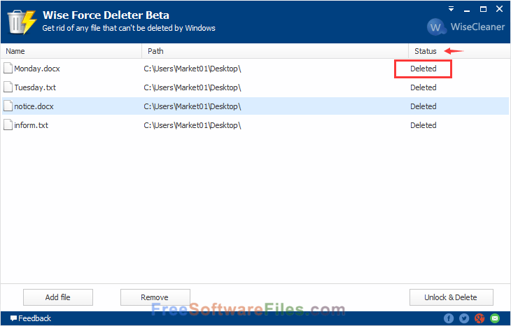 Free Wise Force Deleter 1.46 for windows