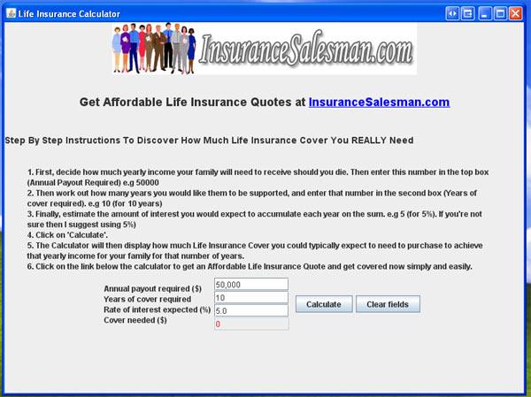 life insurance cost calculator
