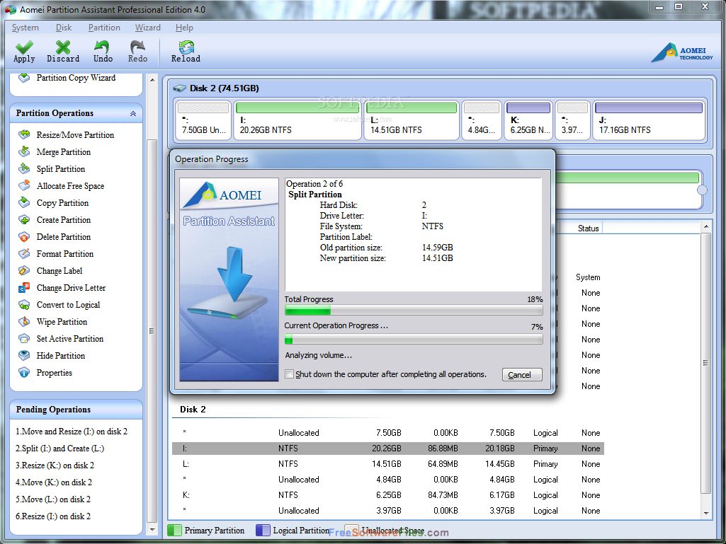 Free Download AOMEI Partition Assistant Standard 6.5