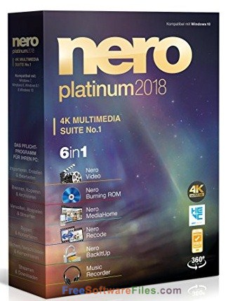 Nero Platinum 2018 Suite Free Download