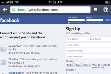 facebook desktop site