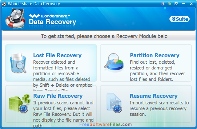 wondershare data recovery free download